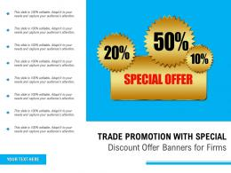 Trade Promotion With Special Discount Offer Banners For Firms