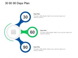 Trade Sales Promotion 30 60 90 Days Plan Ppt Powerpoint Presentation Visual Infographics