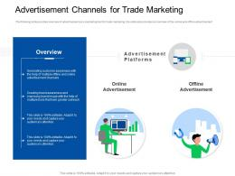 Trade Sales Promotion Advertisement Channels For Trade Marketing Ppt Powerpoint Icon