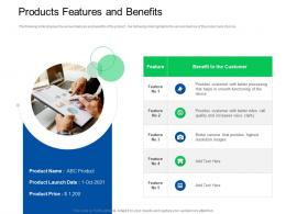 Trade Sales Promotion Products Features And Benefits Ppt Powerpoint Model Slides