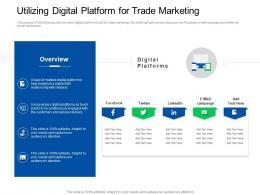 Trade Sales Promotion Utilizing Digital Platform For Trade Marketing Ppt Professional