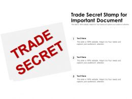 Trade Secret Stamp For Important Document