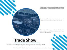 Trade Show Business Ppt Powerpoint Presentation Layouts Icon