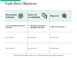 Trade Show Objectives Ppt Powerpoint Presentation File Graphics Template