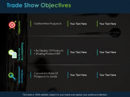 Trade Show Objectives Ppt Powerpoint Presentation File Master Slide