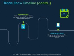 Trade Show Timeline Contd Ppt Powerpoint Presentation File Objects