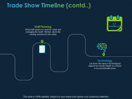 Trade Show Timeline Contd Ppt Powerpoint Presentation File Smartart