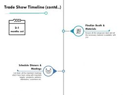 Trade Show Timeline Icons Ppt Powerpoint Presentation File Pictures