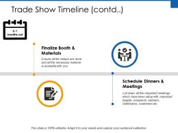 Trade Show Timeline Materials Ppt Powerpoint Presentation File Portfolio