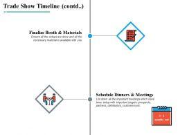 Trade Show Timeline Ppt Powerpoint Presentation File Slide Portrait