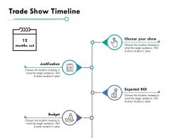 Trade Show Timeline Ppt Powerpoint Presentation File Slides