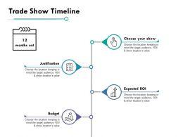 Trade Show Timeline Ppt Powerpoint Presentation File Slides