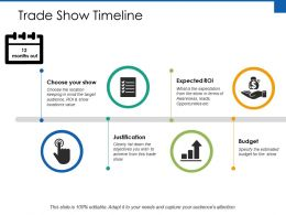 Trade Show Timeline Ppt Powerpoint Presentation File Styles