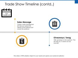 Trade Show Timeline Sales Message Ppt Powerpoint Presentation File Professional