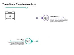 Trade Show Timeline Technology Ppt Powerpoint Presentation File Show