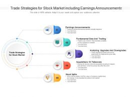 Trade Strategies For Stock Market Including Earnings Announcements