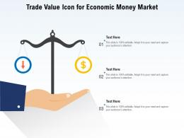 Trade Value Icon For Economic Money Market