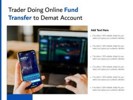 Trader Doing Online Fund Transfer To Demat Account
