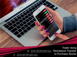 Trader Doing Remittance Transfer To Purchase Stocks