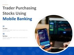 Trader Purchasing Stocks Using Mobile Banking