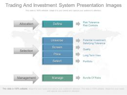 Trading And Investment System Presentation Images