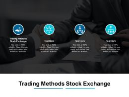Trading Methods Stock Exchange Ppt Powerpoint Presentation Summary Show Cpb