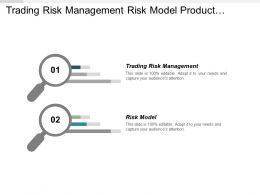 Trading Risk Management Risk Model Product Development Innovation Cpb