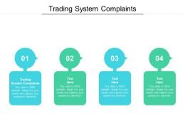 Trading System Complaints Ppt Powerpoint Presentation Gallery Samples Cpb