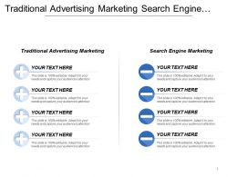 Traditional Advertising Marketing Search Engine Marketing Email Direct Marketing