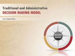 Traditional And Administrative Decision Making Model PowerPoint Presentation With Slides