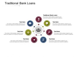 Traditional Bank Loans Ppt Powerpoint Presentation Icon Smartart Cpb