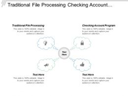 Traditional File Processing Checking Account Program Installment Loan Processing
