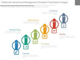 Traditional Hierarchical Management Template Presentation Images