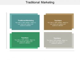 Traditional Marketing Ppt Powerpoint Presentation Gallery Graphic Images Cpb