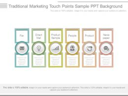 Traditional Marketing Touch Points Sample Ppt Background
