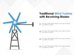 Traditional Wind Turbine With Revolving Blades