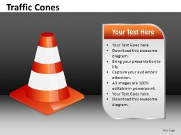Traffic Cones Powerpoint Presentation Slides DB