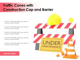 Traffic Cones With Construction Cap And Barrier