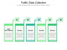 Traffic Data Collection Ppt Powerpoint Presentation Ideas Elements Cpb