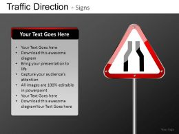 Traffic Direction Signs Powerpoint Presentation Slides DB