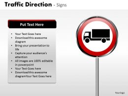 Traffic Direction Signs ppt 13