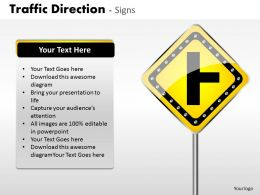 Traffic Direction Signs ppt 8