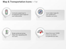 Traffic Lights Compass Fuel Dashboard Ppt Icons Graphics