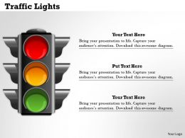 Traffic Lights Powerpoint Template Slide