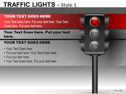Traffic Lights Style 1 Powerpoint Presentation Slides DB