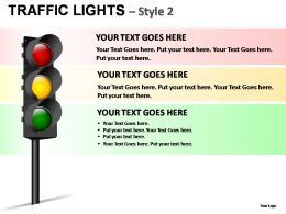 Traffic Lights Style 2 Powerpoint Presentation Slides