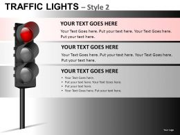 Traffic Lights Style 2 Powerpoint Presentation Slides DB