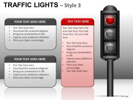 Traffic Lights Style 3 Powerpoint Presentation Slides DB