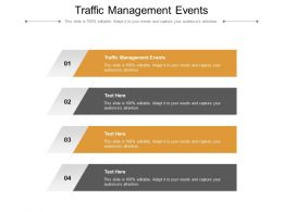 Traffic Management Events Ppt Powerpoint Presentation Infographics Infographics Cpb