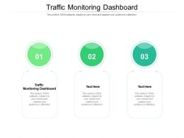 Traffic Monitoring Dashboard Ppt Powerpoint Presentation Icon Cpb